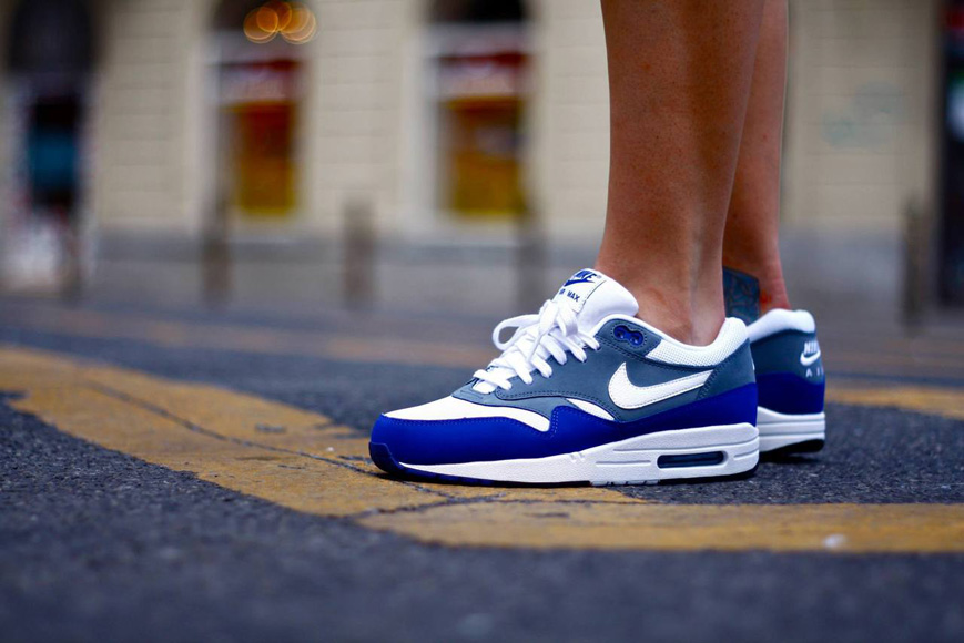 quality design ad950 4dabc Nike Air Max 1 Essential – Deep Royal Blue, Grey  White