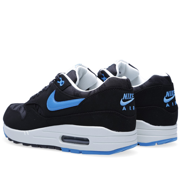 hot sale online 7639d bbd0c Nike Air Max 1 Premium – Black and Blue Camouflage