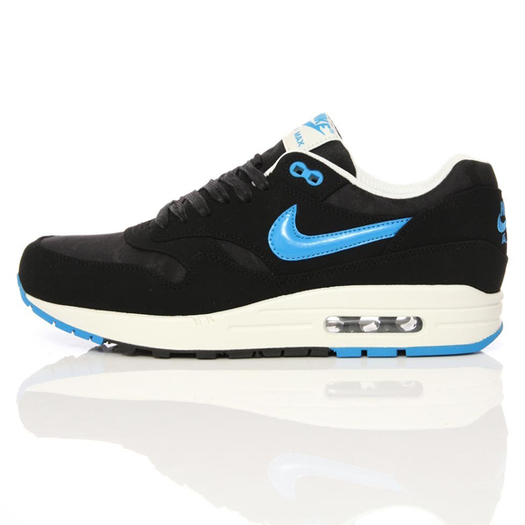 hot sale online b8142 f81e5 Nike Air Max 1 Premium – Black and Blue Camouflage