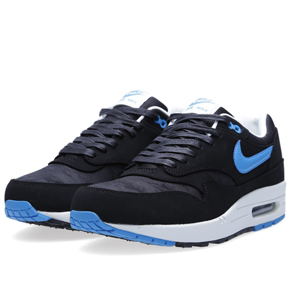 Nike Air Max 1 Premium - Black and Blue Camouflage | NikeAirMax1.com