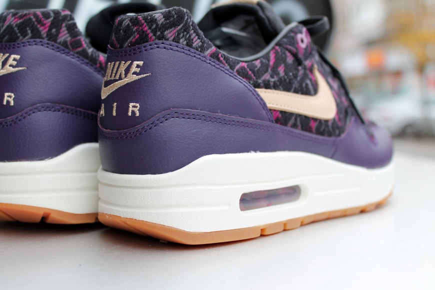 half off aa0b3 fb5d2 Nike Air Max 1 Premium – Purple Dynasty   Linnen Black