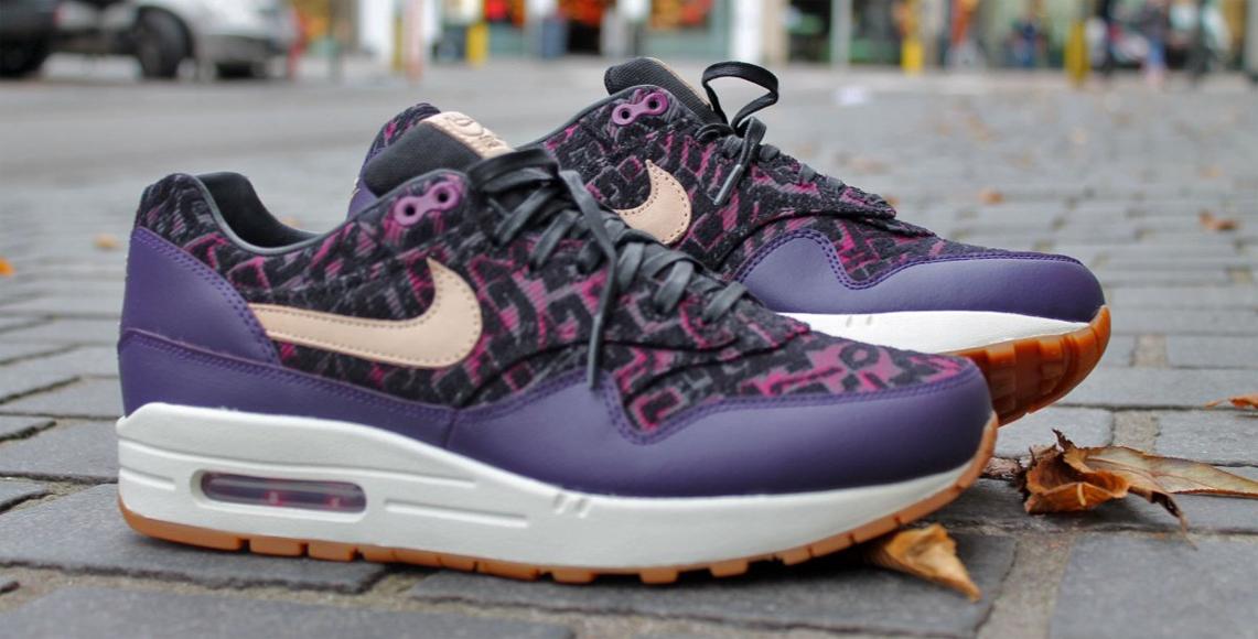 half off e9135 e0874 Nike Air Max 1 Premium – Purple Dynasty   Linnen Black