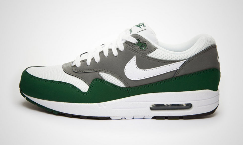 Nike added a new shoe to its Essential collection. We are talking about the Nike  Air Max 1 Essential – White   Mercury Grey   Gorge Green. bc19f847931e