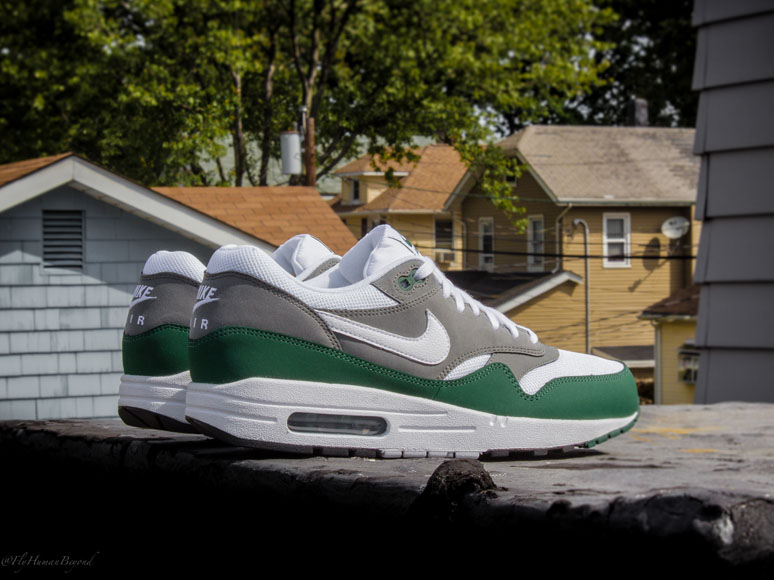 newest collection a3f81 b3429 Nike Air Max 1 Essential – White, Mercury Grey   Gorge Green
