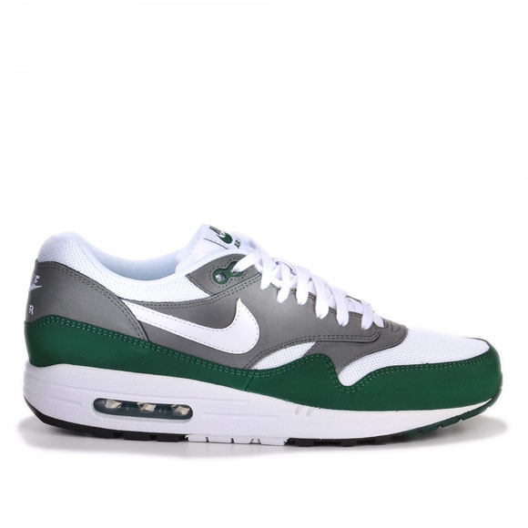 ampliar O bádminton  Nike Air Max 1 Essential - White, Mercury Grey & Gorge Green | NikeAirMax1 .com