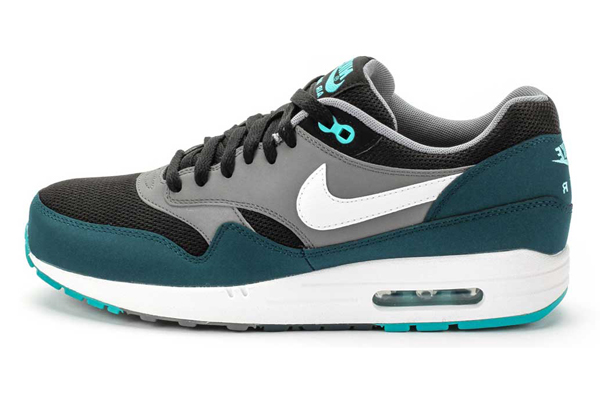 Nike Air Max 1 – Mid Turquoise, Black & White