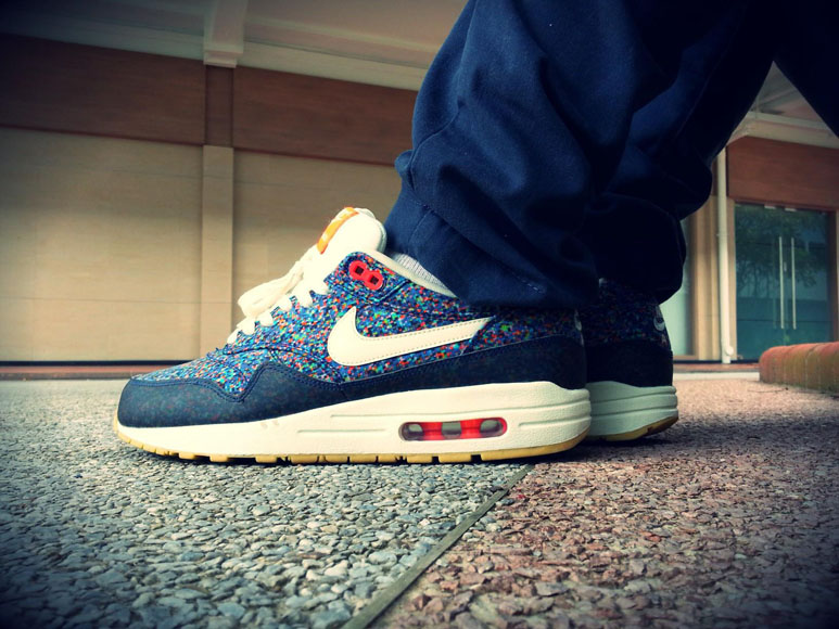 sale retailer 97f30 b38fa Nike Air Max 1 Liberty – Navy Blue