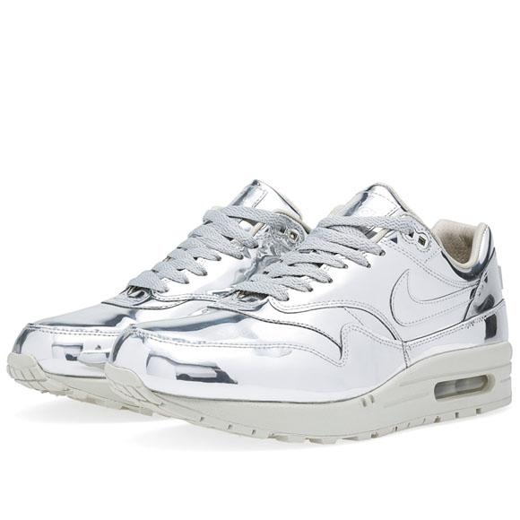 buy popular 034ca 522c5 Nike Air Max 1 – Liquid Metal – Silver