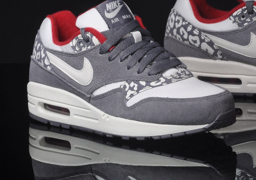 best service 89ff5 5e512 Nike Air Max 1 Leopard – Grey   White