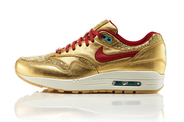 Nike Air Max 1 BMH – Gold & Red
