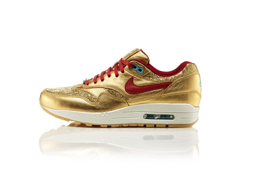photos officielles 49995 b492a Nike Air Max 1 BMH - Gold & Red - Nike Air Max 1